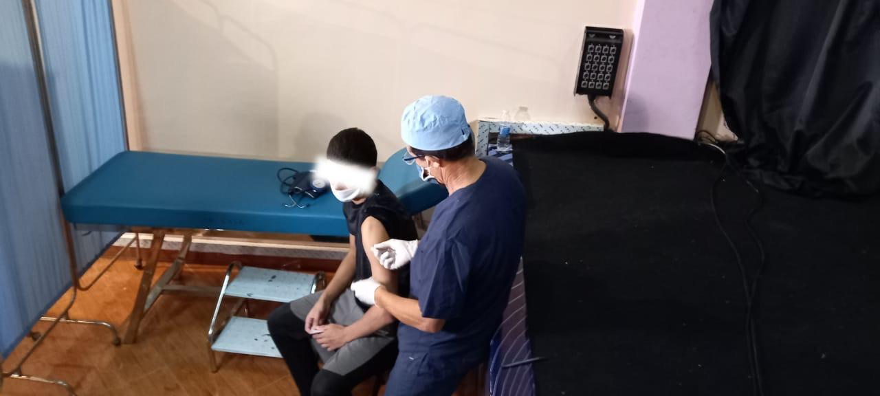 """نزلاء إصلاحية عين السبع يتلقون اللقاح المضاد لفيروس """"كورونا"""" (صور)"""