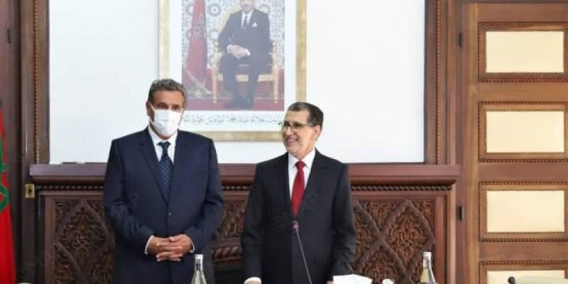 رسميا.. تسليم السلط بين العثماني ورئيس الحكومة الجديد عزيز أخنوش